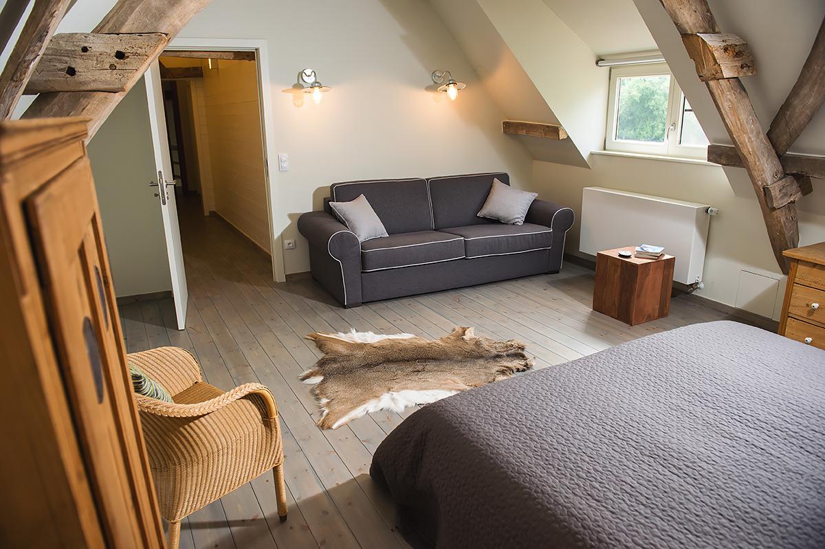 2 persoons slaapkamer met extra slaapbank