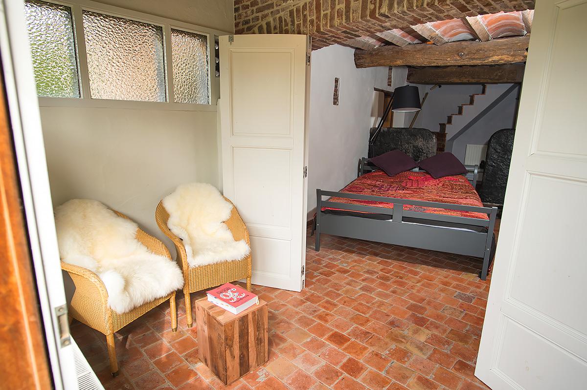 slaapkamer met leeshoek vakantiehuis
